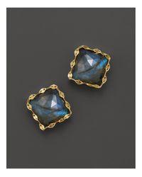 Lana Jewelry | Metallic 14k Yellow Gold Ultra Stud Earrings With Labradorite | Lyst