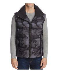 Sam. - Gray Camouflage Racer Puffer Vest for Men - Lyst
