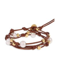 Chan Luu - Brown Wrap Bracelet - Lyst