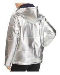 Kenneth Cole - Metallic Puffer Jacket - Lyst