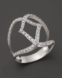 Bloomingdale's - Diamond Geometric Ring In 14k White Gold, .70 Ct. T.w. - Lyst