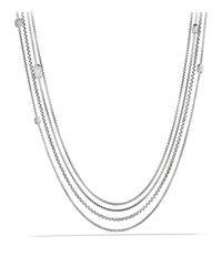 David Yurman - Metallic Confetti Station Necklace With Diamonds - Lyst
