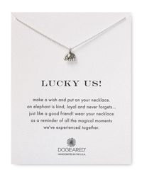 "Dogeared - Metallic Lucky Us Necklace, 16"" - Lyst"