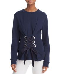 10 Crosby Derek Lam - Blue Lace-up Sweatshirt - Lyst