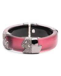 Alexis Bittar - Multicolor Crystal Accented Lucite Hinge Bracelet - Lyst