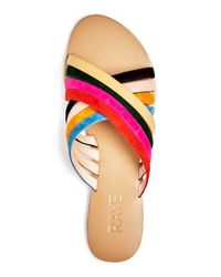 Raye - Multicolor Silvie Strappy Slide Sandals - Lyst