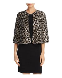 Laundry by Shelli Segal - Metallic Sequin Capelet - Lyst