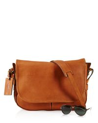 Ralph Lauren - Brown Polo Core Leather Messenger Bag for Men - Lyst
