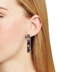 Aqua - Black Marble Hoop Earrings - Lyst