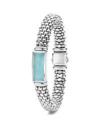 Lagos - Metallic Sterling Silver Maya Escape Turquoise Doublet Bracelet - Lyst