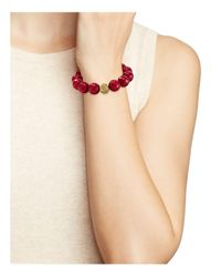 Bourbon and Boweties - Red Beaded Stretch Bracelet - Lyst