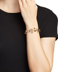 Marco Bicego - Metallic 18k Yellow Gold Paradise Teardrop Three Strand Gemstone Bracelet - Lyst