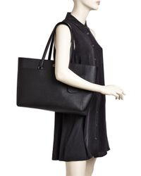 Tory Burch - Black Robinson Leather Tote - Lyst