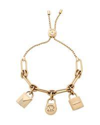 Michael Kors - Metallic Slider Charm Bracelet - Lyst