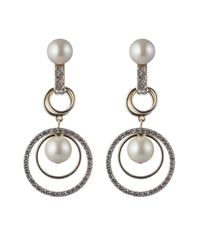 Carolee - Metallic Orbital Links Drama Clip-on Earrings - Lyst