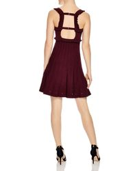 Sandro - Purple Silvi Eyelet-detail A-line Dress - Lyst