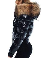 Sam. - Multicolor Skyler Fur Trim Short Down Coat - Lyst