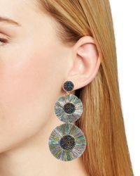 BaubleBar - Green Mariette Double Drop Earrings - Lyst