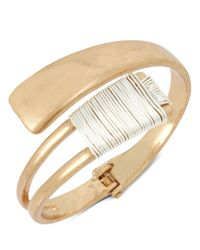 Robert Lee Morris - Metallic Two-tone Wire Wrap Bypass Cuff - Lyst