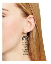 Aqua - Metallic Shaky Jet Drop Earrings - Lyst