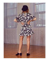 LOST AND WANDER - Black Lost And Wonder Birdee Mini Dress - Lyst