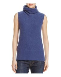 Vince - Blue Sleeveless Cashmere Sweater - Lyst