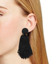 BaubleBar - Black Tassel Earrings - Lyst