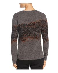 John Varvatos - Gray Diffused Artist Crewneck Sweater for Men - Lyst