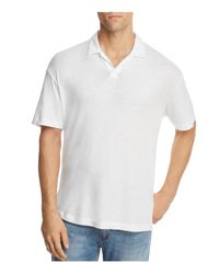 Theory - White Open Collar Short Sleeve Polo Shirt for Men - Lyst