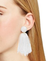 BaubleBar - White Sonatina Tassel Earrings - Lyst