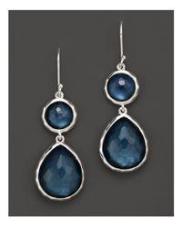 Ippolita - Blue Sterling Silver Wonderland Teardrop Snowman Doublet Earrings In Indigo - Lyst