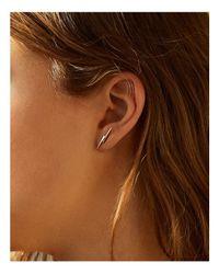 Shinola - Metallic Sterling Silver Bolt Stud Earrings - Lyst