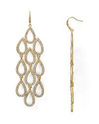 ABS By Allen Schwartz | Metallic Pave Beach Chandelier Earrings | Lyst