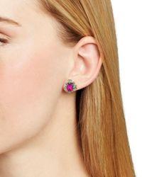 Sorrelli - Multicolor Verbena Crystal Stud Earrings - Lyst