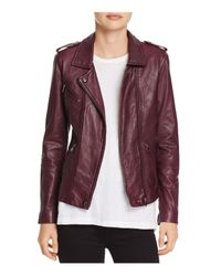 Rebecca Taylor - Purple Washed-leather Biker Jacket - Lyst