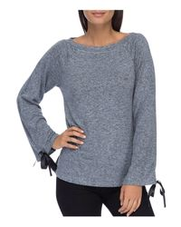B Collection By Bobeau - Blue Jess Tie Sleeve Top - Lyst