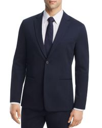 Theory - Blue Newson Cotton Slim Fit Suit Jacket for Men - Lyst