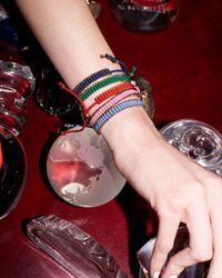 Links of London - Blue Rose-gold Plated Mini Friendship Bracelet - Lyst