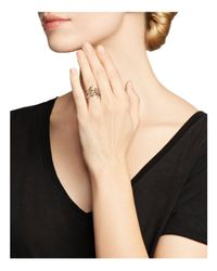 Bloomingdale's - Pink White Diamond And Brown Diamond Ring In 14k Rose Gold - Lyst