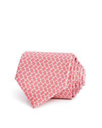 Ferragamo - Pink Sitting Dog Classic Tie for Men - Lyst