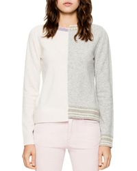 Zadig & Voltaire - White Source Spliced Sweater - Lyst