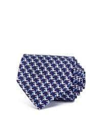 Ferragamo - Blue Happy Crocodile Classic Tie for Men - Lyst