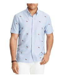 Polo Ralph Lauren - Blue Flag Embroidered Classic Fit Button-down Shirt for Men - Lyst