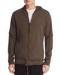 Thom Krom - Green Double Zip Hooded Sweatshirt for Men - Lyst
