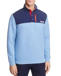 Vineyard Vines - Blue Quilted Pullover Sweater for Men - Lyst