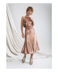 C/meo Collective - Pink Illuminated Sequin Dress - Lyst