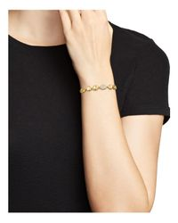 Ippolita - Metallic 18k Yellow Gold Onda Diamond Pebble And Chain Bracelet - Lyst