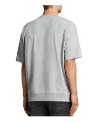 AllSaints - Gray Negotum Short-sleeve Sweatshirt for Men - Lyst