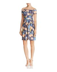 Rebecca Taylor | Blue Gigi Off-the-shoulder Skater Dress | Lyst
