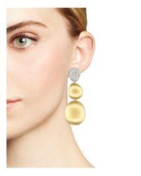 Marco Bicego - Metallic Diamond Lunaria Three Drop Large Earrings In 18k Yellow Gold - Lyst
